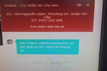 khung chat hỗ trợ khách hàng